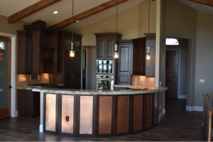 walnut wood kitchen remodel